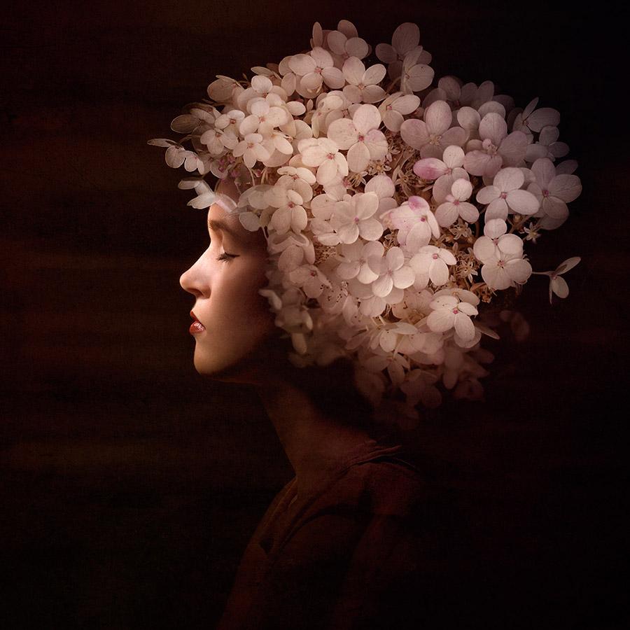FLOWERS IN MY HAIR #3 of 20 á 50x50 cm. From 5250 SEK